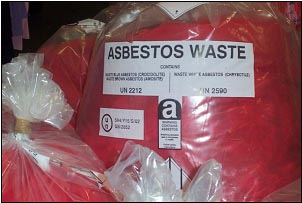 Asbestos Waste Bagged Up (photo courtesy of GTC-AMAS)